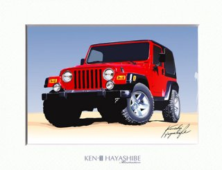 Jeep Wrangler TJ (red)