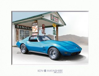 Chevrolet Corvette C3 y73 (blue)