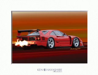 F40 LM (red) rear