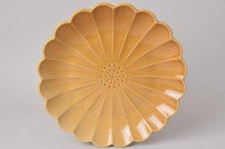 菊型 大皿 キャメル