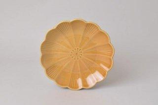 菊型 取り皿 キャメル