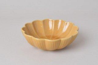 菊型 浅鉢 キャメル