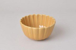 菊型 茶碗 キャメル