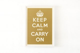 Keep Calm and Carry On - Gold