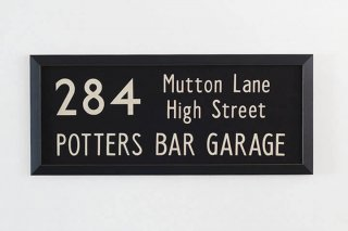 Bus Blind  / 284   Mutton Lane ~ High Street ~ Potters Bar Garage