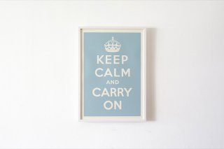 Keep Calm and Carry On - Duck Egg