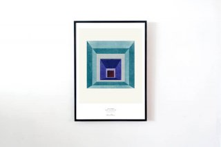 "Lissa Thimm / ""Blue Square"" POSTER 700 × 500 mm"