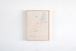 Jean Cocteau / Les murs… - 1955 -