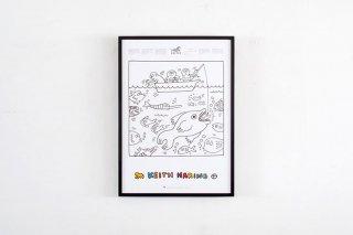 """Keith Haring  """"Fish""""  1991"""