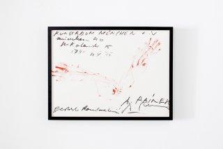 Arnulf Rainer / �Übermalungen� Galerie Schöttle München 1970