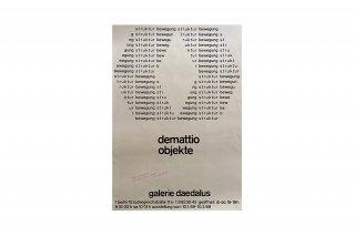 Bruno Demattio / Galerie Daedalus Berlin 1969