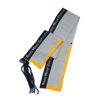 READY MIXED CONCRETE SCARF / Grey/Yellow