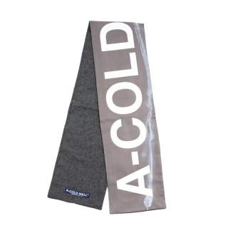 SILK PAINT STAINED SCARF / Grey