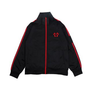 MUSIC NOTE POLY TRICOT TRACK JACKET / Black
