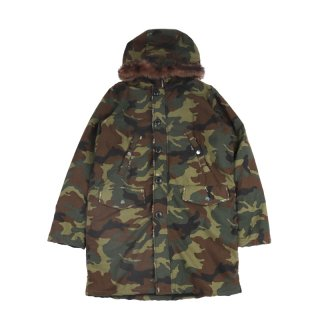 Camo Parka-Tencel Body / Camo