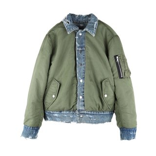 Reversible Trucker Bomber / Indigo/Green