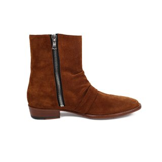 Skinny Stack Boot / Brown
