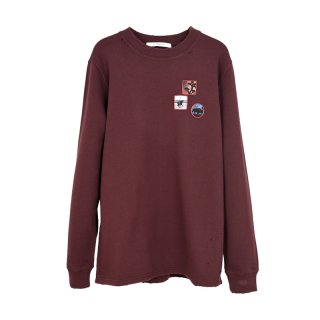 SWEAT SHIRT / BURGUNDY