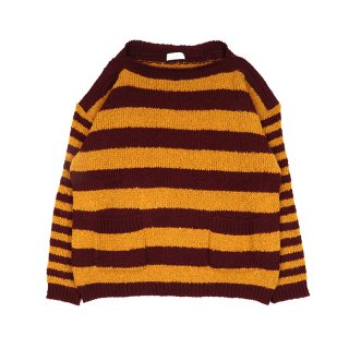 CURLY STRIPE PULL / BURGUNDY / MUSTARD