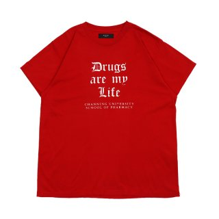 Drug Life Tee / Red/White