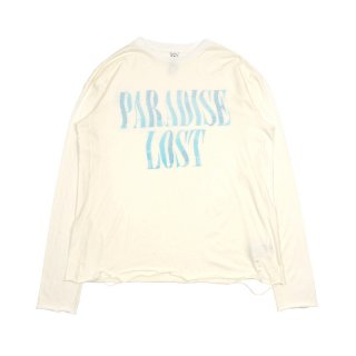 DISTRESSED LONG SLEEVE TEE / White