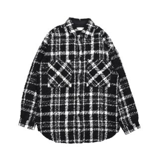 TWEED OVERSIZE SHIRT / Black / White