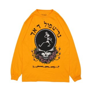 SKULL &ROSE LONG SLEEVE T-SHIRT / Yellow Gold