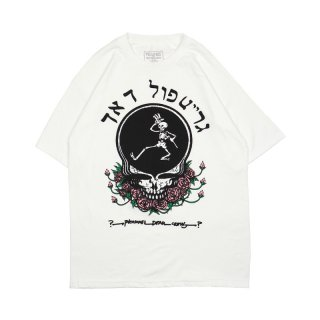 SKULL & ROSE T-SHIRT / White