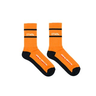 СТИЛЬ MULTI-RIB SOCKS / Orange / White