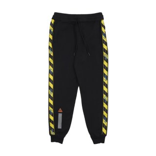 SWEATPANT WITH SIDE TAPE / BLACK NO COLOR