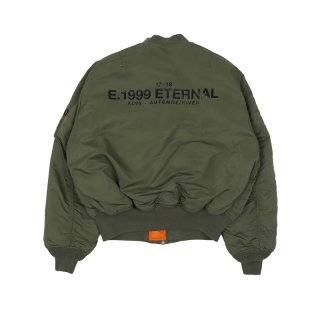 E.1999 ETERNAL  REVERSIBLE BOMBERJACKET / Green/Orange