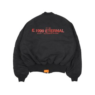 E.1999 ETERNAL  REVERSIBLE BOMBERJACKET / Black/Orange