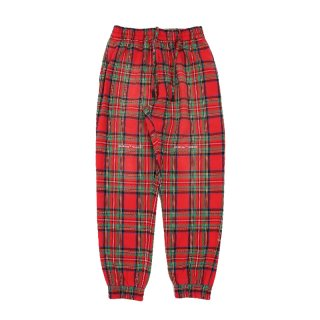 RED CHECK SWEATPANTS / ALL OVER NO COL