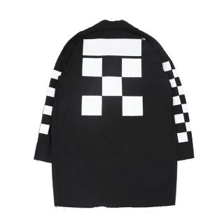 CHECKER WORK COAT / Black/White