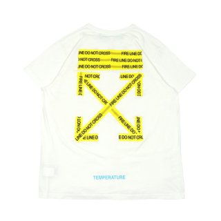 FIRETAPE S/S TEE / White/Yellow