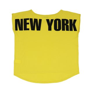 New York Boat Neck T-shirt / Yellow