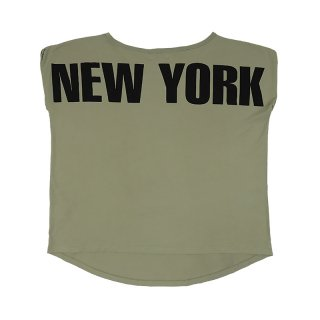 New York Boat Neck T-shirt / Kaki
