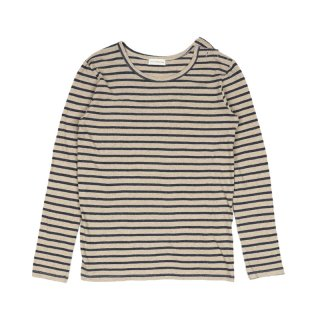 Long Sleeve Sailor Top / Navy/Beige
