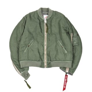 MA-1 DOUBLE ZIPPED BOMBER JKT / Sage Green