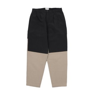 SPLIT COLOUR CHINOS / Black