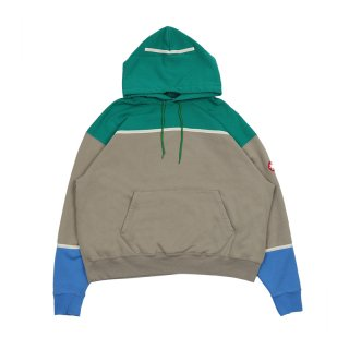 COLOUR PANEL HEAVY HOODY / KHAKI