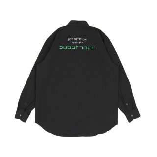 Slightly oversized shirt with embroidery / Black