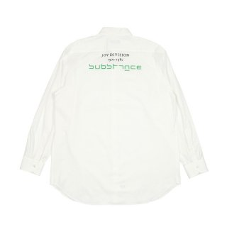 Slightly oversized shirt with embroidery / White