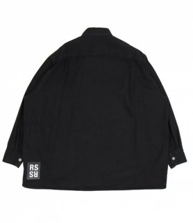 Denim easy fit shirt / Black