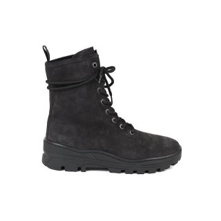 THICK SUEDE COMBAT BOOTS / Graphite