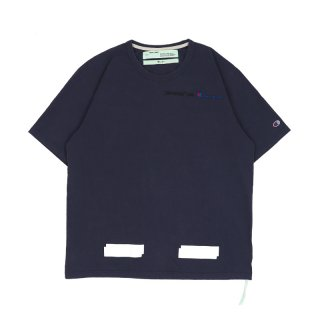 CHAMPION TEE / Dusty Blue/White