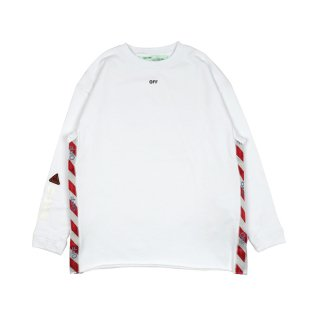 TAPE OVER CREWNECK / White