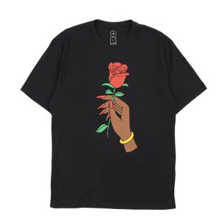 AWOL T-SHIRT ROSE PRINT / Black