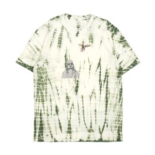TYE DYE KURT T-SHIRT / White/Green