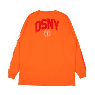 DSNY JERSEY T-SHIRT L/S / Orange/White